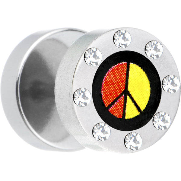 Gem Rasta Peace Logo Cheater Plug