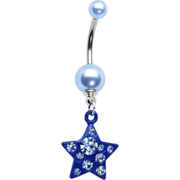 Blue Star Dangle Belly Ring