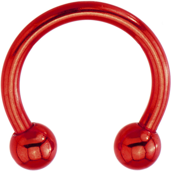 14 Gauge Red Electro Titanium Horseshoe -7/16