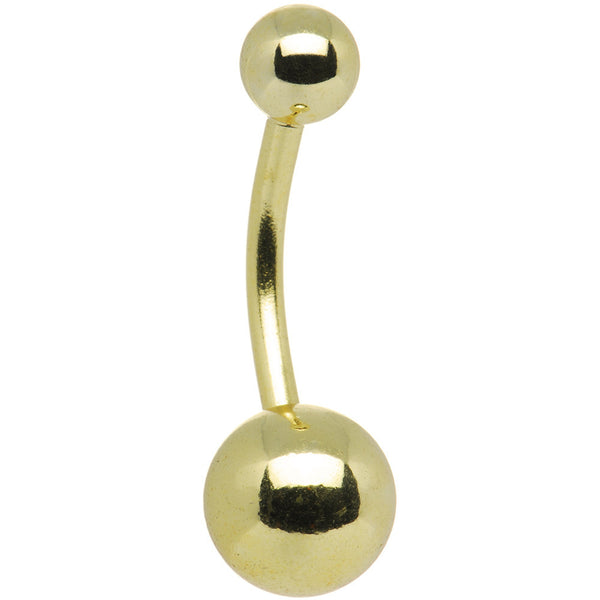 Gold Electro Titanium Belly Ring -7/16