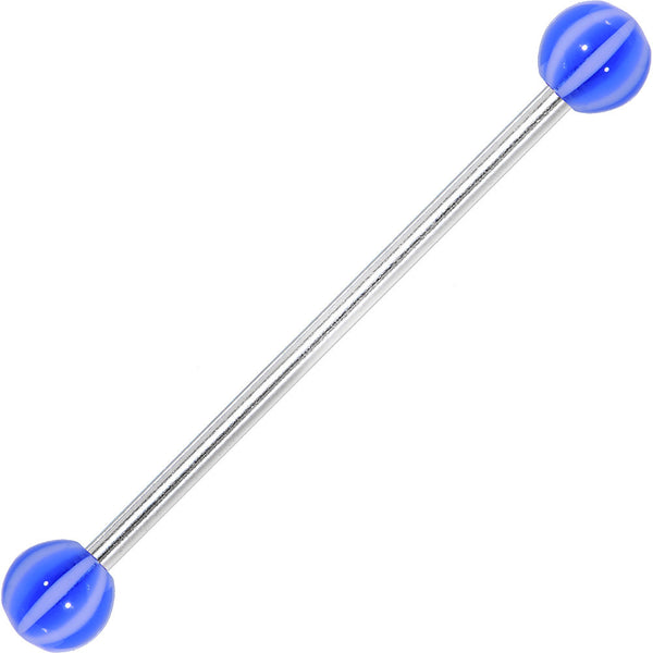 Cabana Blue Beach Ball Industrial Barbell 31mm