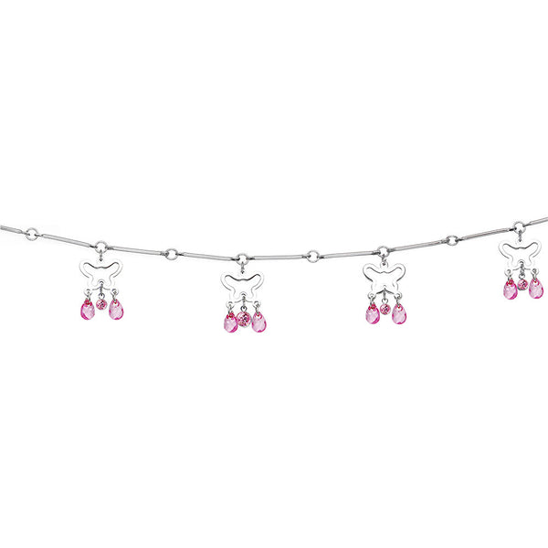 Pink Alluring Gem Butterfly Belly Chain