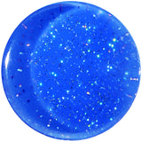 "9/16"" Blue Neon Glitter Saddle Plug"