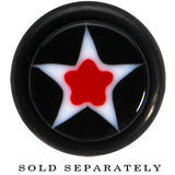 Black Acrylic Red Astro Star Cheater Plug