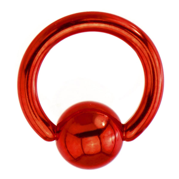 16 Gauge Red Electro Titanium BCR Captive Ring -1/4