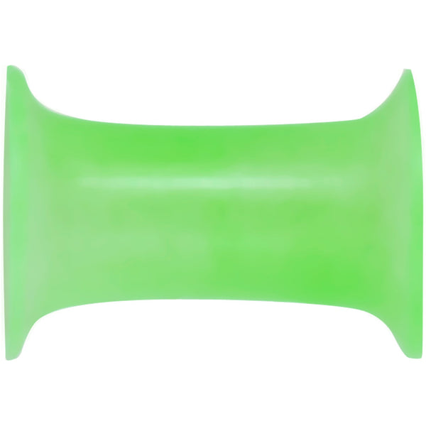 4 Gauge Thin Flexible Green Silicone Double Flare Tunnel Plug Set