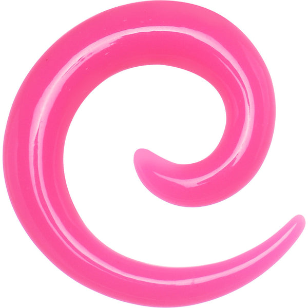 4 Gauge Pink Acrylic Spiral Taper