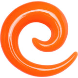 00 Gauge Orange Acrylic Spiral Taper