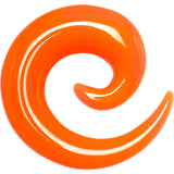 1/2 Orange Acrylic Spiral Taper