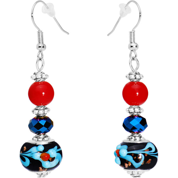 Bead Me Beautiful Blue Drop Earrings