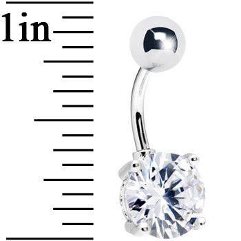 Clear Exquisite Cubic Zirconia Belly Ring