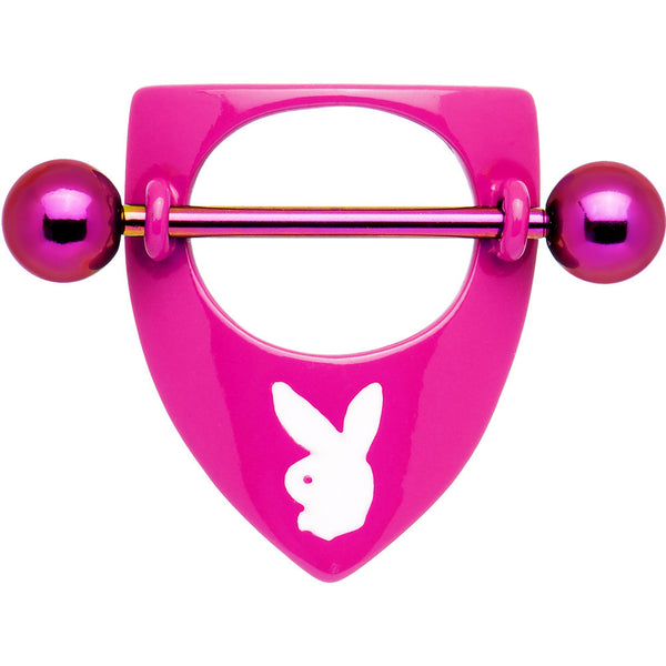 Playboy Pink Titanium Rabbit Head Shield Nipple Ring