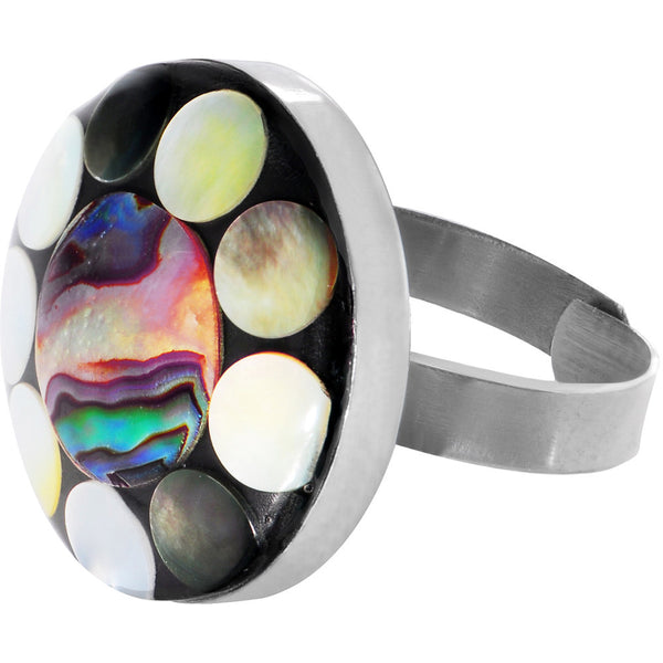 Paua Abalone Shell Adjustable Ring