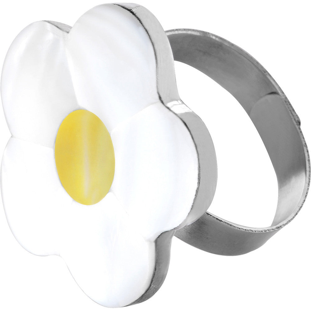Haute Hippie Flower Hammershell Adjustable Ring