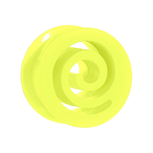 "5/8"" Green Flexible Silicone Flat Spiral Plug"