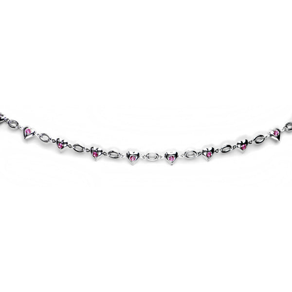 Pink Gem Romantic Heart Belly Chain