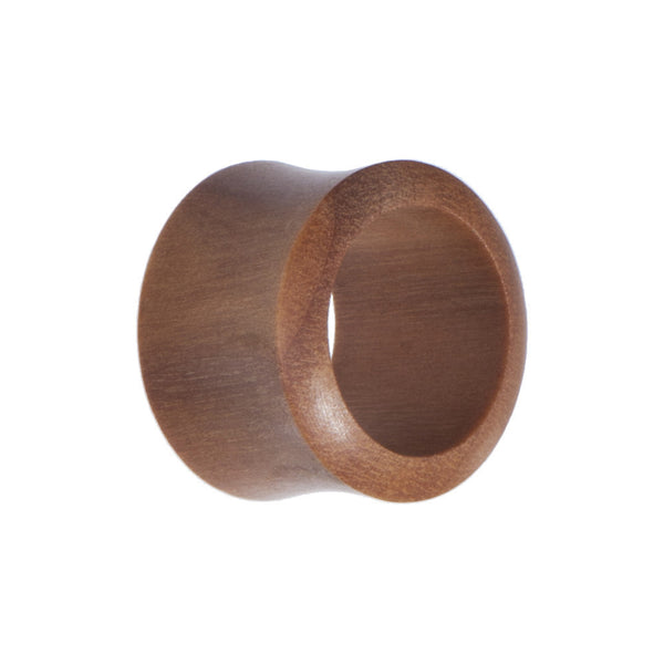 18mm Organic Sawo Wood Hollow Saddle Plug