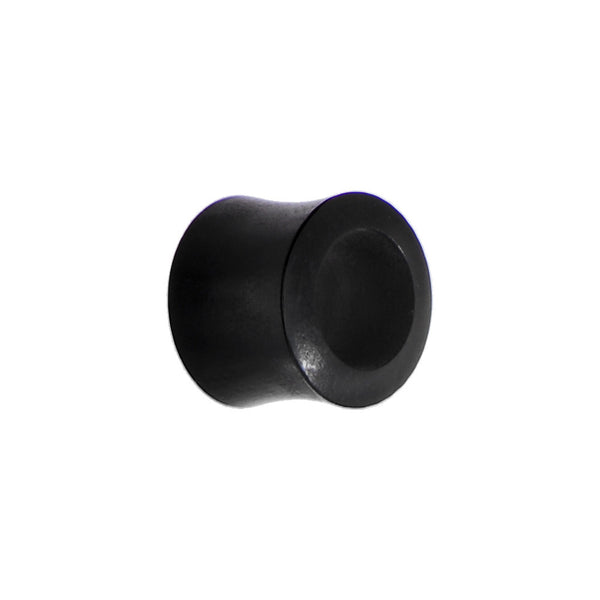 1/2 Organic Black Wood Hollow Saddle Plug
