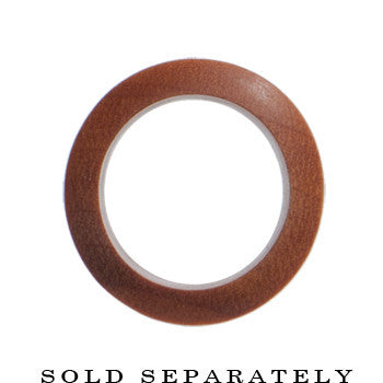 7/16 Organic Sawo Wood Hollow Saddle Plug