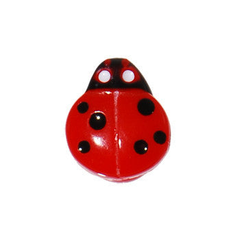 Red Black Lady Bug Barbell Tongue Ring