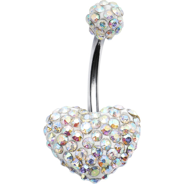 Aurora Romance Heart Austrian Crystal Evolution Belly Ring