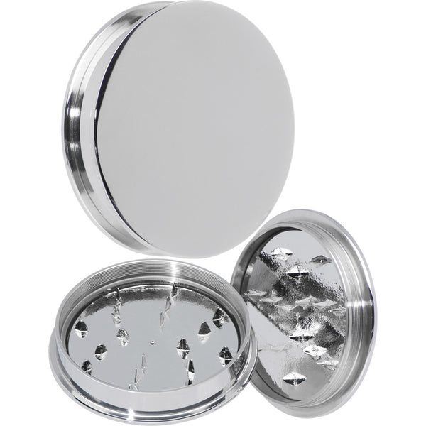 50mm Stainless Steel Herb Stash and Grinder Plug Set