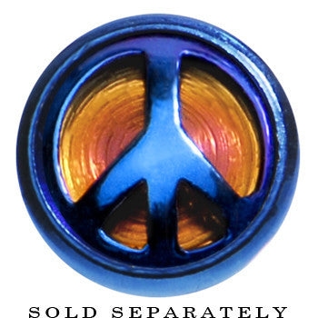 Blue Anodized Titanium Peace Sign Cheater Plug