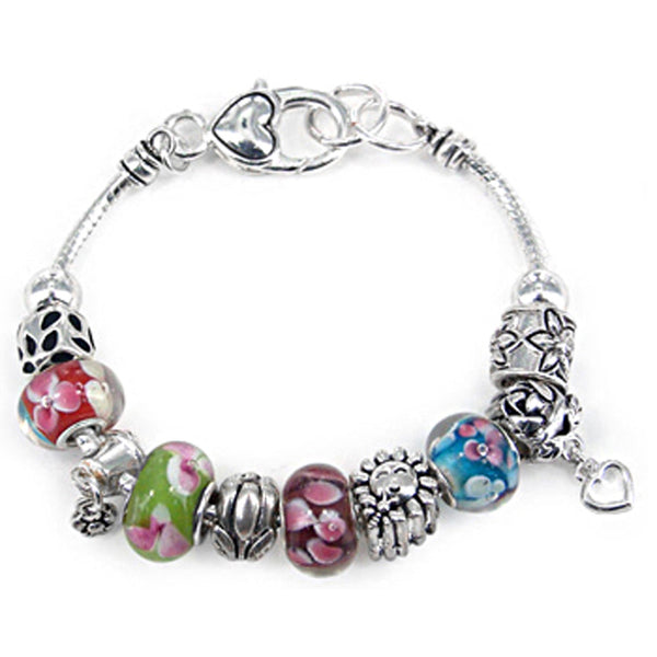 Romantic Flower Charm Bracelet