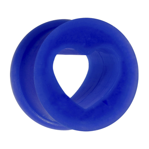 "9/16"" Blue Heart Silicone Flexible Tunnel"