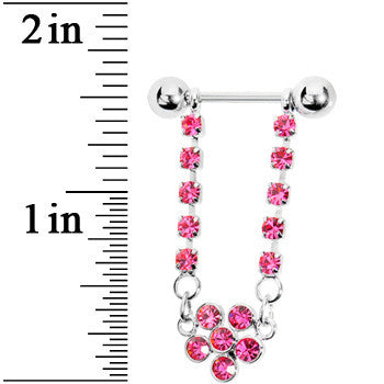 Passion Pink Jeweled PETALS of PASSION Dangle Nipple Shield