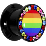 00 Gauge Rainbow Flag Acrylic Stash Plug