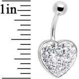 Romantic Red Jeweled Adoration Heart Belly Ring