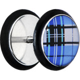 Aqua Plaid Cheater Plug