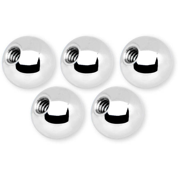 14 Gauge 5mm Stainless Steel Replacement Ball Bonus Pack Set