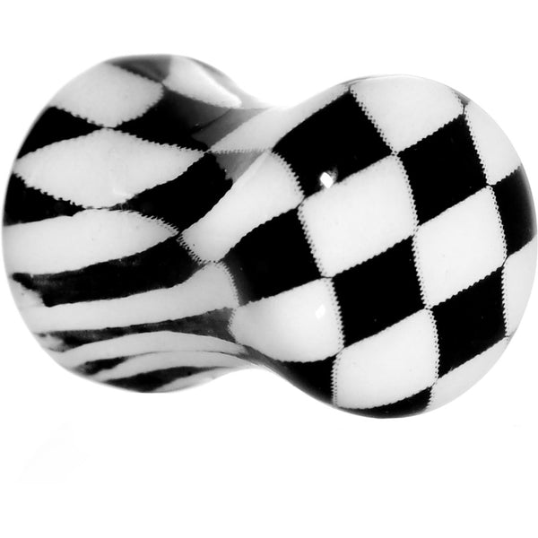 2 Gauge Checkerboard Glow in the Dark Saddle Plug