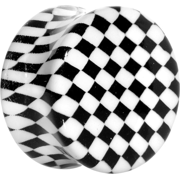 3/4 Checkerboard Glow in the Dark Saddle Plug