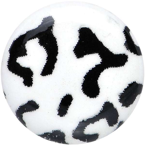 Leopard Print Glow in the Dark Saddle Plug 0 Gauge to 1 Inch