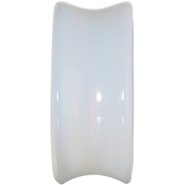 1 inch Natural Moonstone Stone Concave Teardrop Plug Set