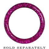 0 Gauge Acrylic Fuchsia Glitter Screw Fit Tunnel