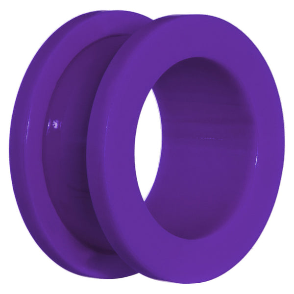 5/8  Acrylic Neon Purple Screw Fit Tunnel Plug
