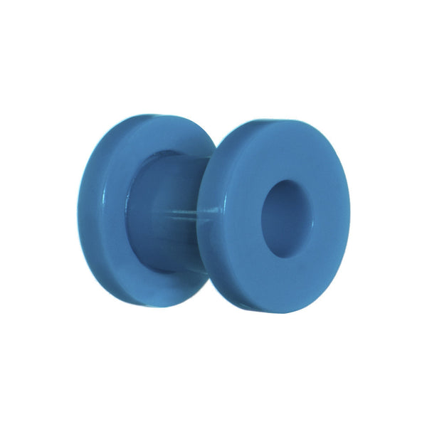 2 Gauge Acrylic Neon Blue Screw Fit Tunnel Plug