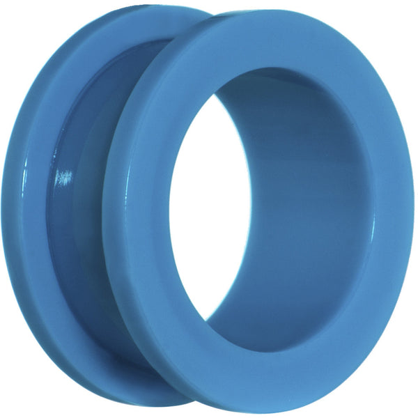 "3/4"" Acrylic Neon Blue Screw Fit Tunnel Plug"