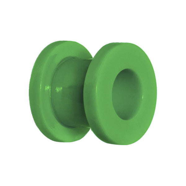 0 Gauge Acrylic Neon Green Screw Fit Tunnel Plug