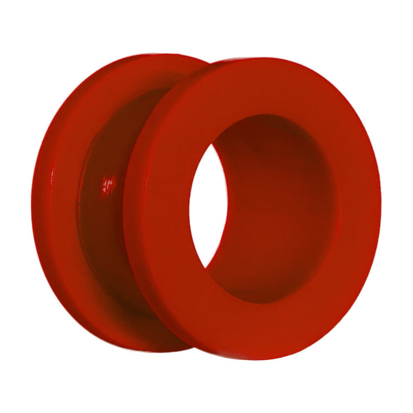 "1/2"" Acrylic Neon Red Screw Fit Tunnel Plug"