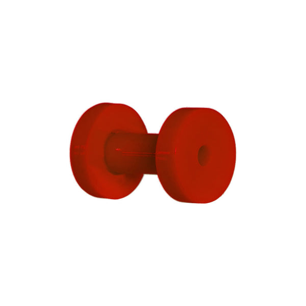 8 Gauge Acrylic Neon Red Screw Fit Tunnel Plug
