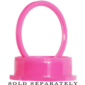 00 Gauge Acrylic Neon Pink Screw Fit Tunnel Plug