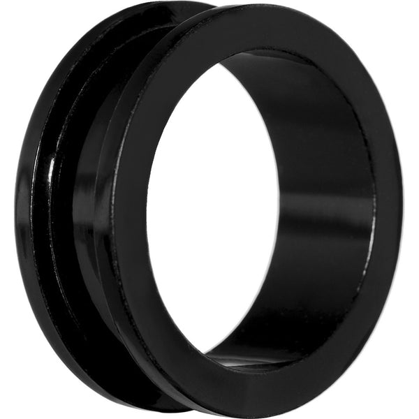 1 inch Acrylic Black Screw Fit Tunnel Plug