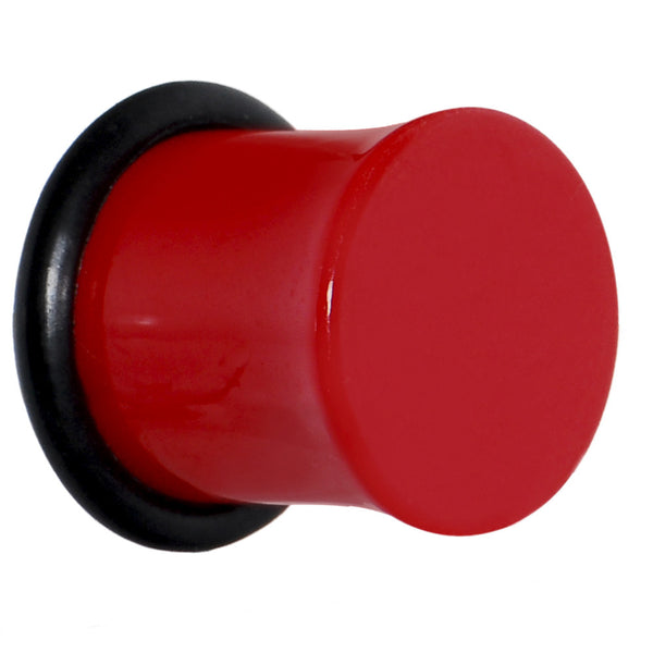 00 Gauge Acrylic Neon Red Plug