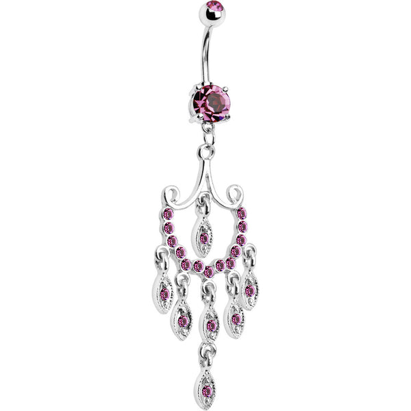 Pink Gem Prestigious Chandelier Belly Ring