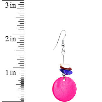Pink Tropical Dangle Earrings